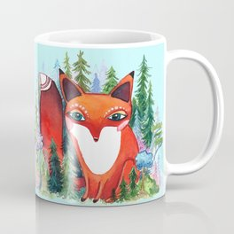 Forest Spirit Red Fox Totem Coffee Mug