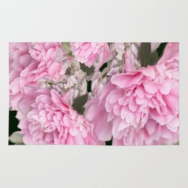 Pink Bouquet On A Black Background  #society6 #buyart Rug