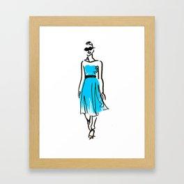 fashion sketch 1 Framed Art Print