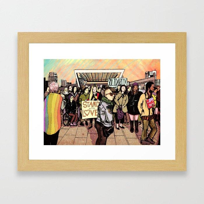 Love and Solidarity Framed Art Print