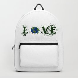 Earth Day Love Mother Earth Backpack