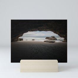 Caves Beach Mini Art Print