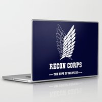 shingeki no kyojin Laptop & iPad Skins featuring Recon Corps by rKrovs