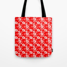 Red And White Turtles Hawaiian Pattern Tote Bag