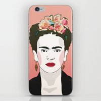 frida iPhone & iPod Skins featuring Frida by Amanda Corbett