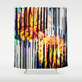 Floral Keys [orange] Shower Curtain