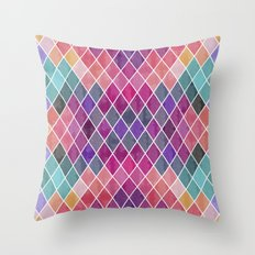 Watercolor Geometric Pattern Throw Pillow