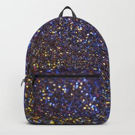 Blue and Gold Sparkles Backpack