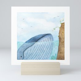 Blue whale Mini Art Print