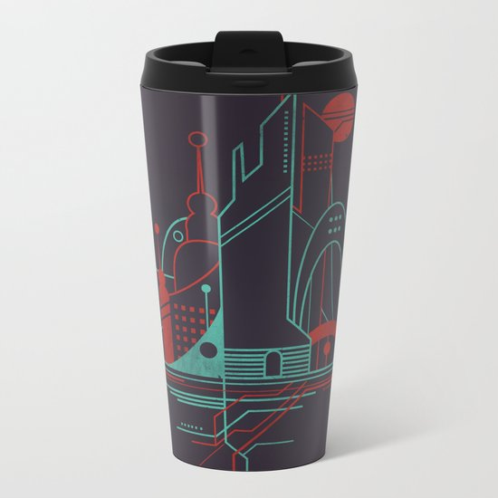 From the Subway to the Sky (at Night) Metal Travel Mug