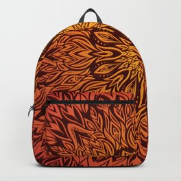 Fire Spirit Mandala Art Backpack
