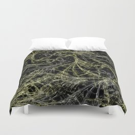 Yellow Magical Wisps Duvet Cover