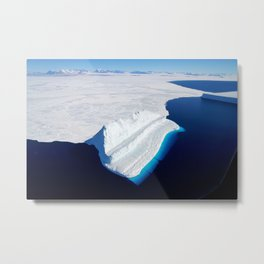 100. The Bluest of Ice Metal Print