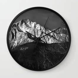 Lone Pine Peak Sunrise 2-28-19 Wall Clock
