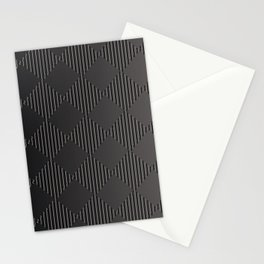Silver Gradient Geometric Square Pattern Stationery Cards