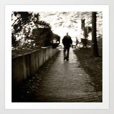 man on path i saw one afternoon Art Print
