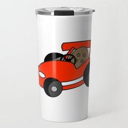 Cartoon Go-Kart Travel Mug