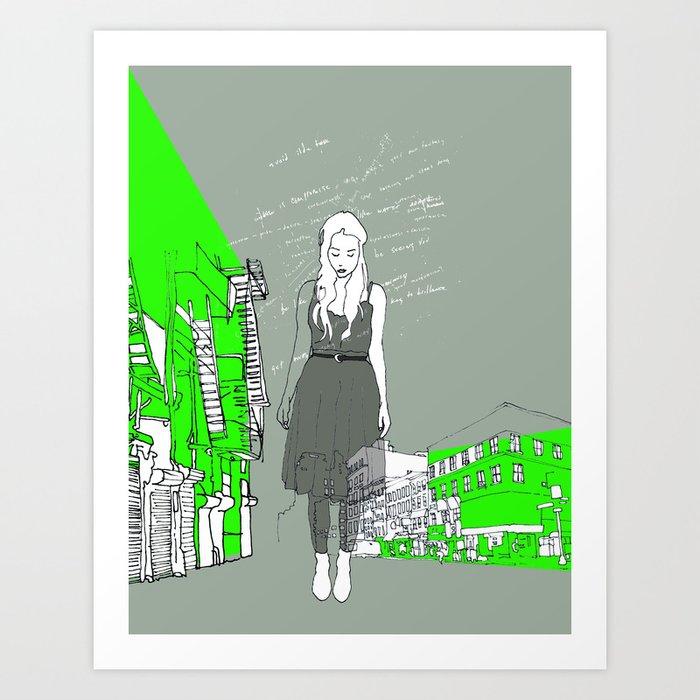 14th & 6th ave Art Print