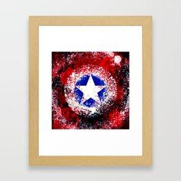 star shield Framed Art Print