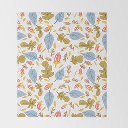 Leaflets Throw Blanket