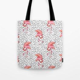 Flamingos and Polka Dots by Katrina Ward Tote Bag