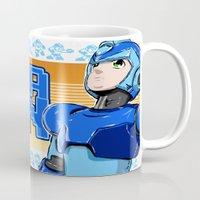 mega man Mugs featuring Mega Man by 117 Art