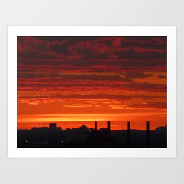 Sunset/Cityscape 4 Art Print