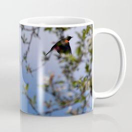 Red Wing Black Bird Coffee Mug