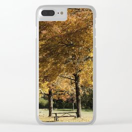 Fall in Lowell Oregon Clear iPhone Case