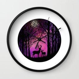 Purple Dreamers Wall Clock