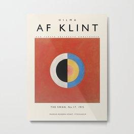 Poster Hilma af Klint-The Swan, No. 17. Metal Print