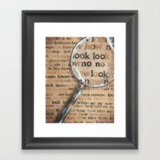 Look How Framed Art Print