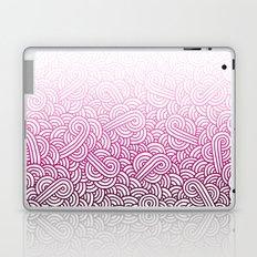 Gradient pink and white swirls doodles Laptop & iPad Skin