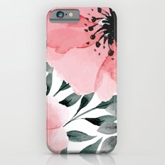 Big Watercolor Flowers Slim Case iPhone 6s