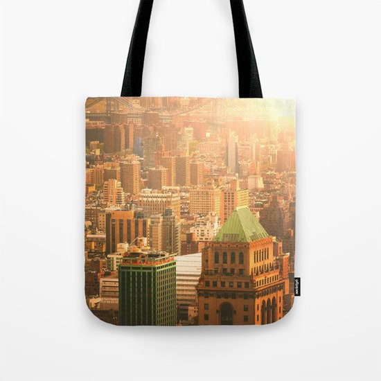 New York City Skyline Rooftops Tote Bag