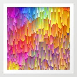 Vibrant Rainbow Cascade Design Art Print