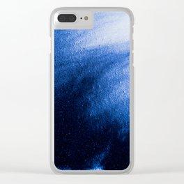 Indefinite Blue Clear iPhone Case