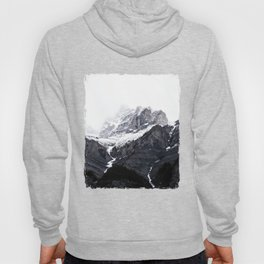 Moody snow capped Mountain Peaks - Nature Photography Hoody