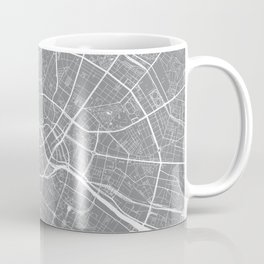 Berlin, Germany, City Map - Grey Coffee Mug