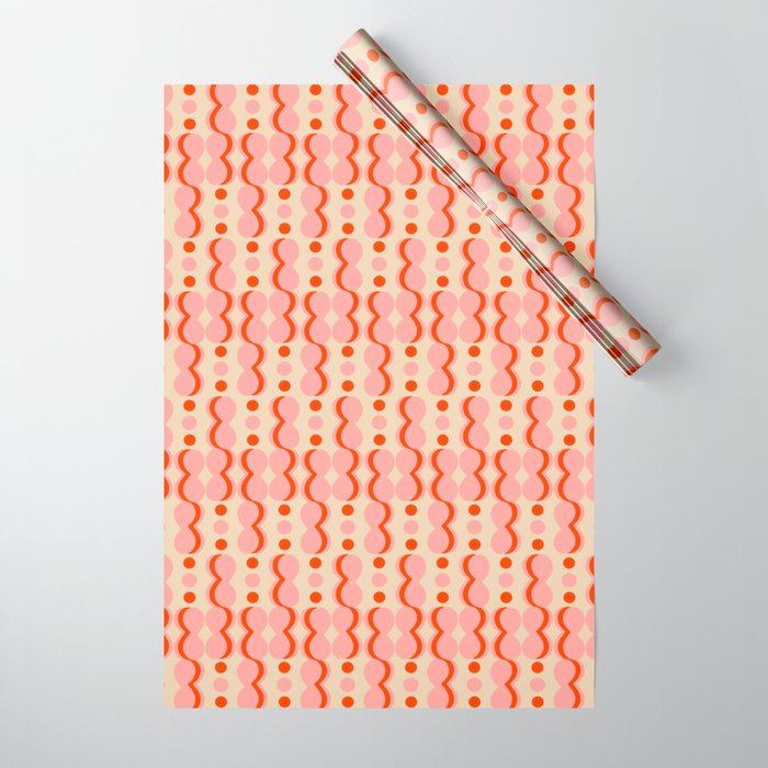 Uende Love - Geometric and bold retro shapes Wrapping Paper