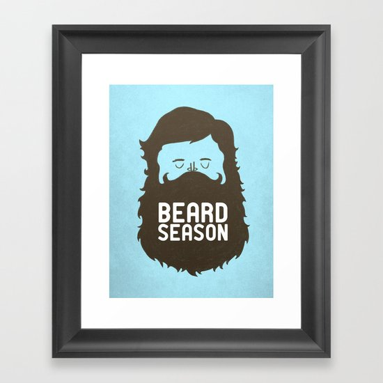 Beard Season Framed Art Print