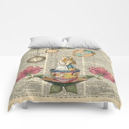 It's Always Tea Time - Alice In Wonderland Comforters