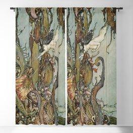 The Little Mermaid, Vintage Art Nouveau Illustration Blackout Curtain