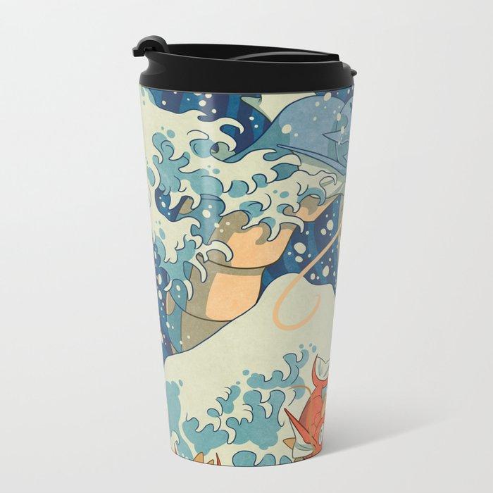 The Great Wave Metal Travel Mug