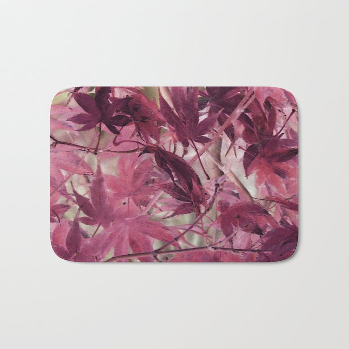 Red Fall Bath Mat