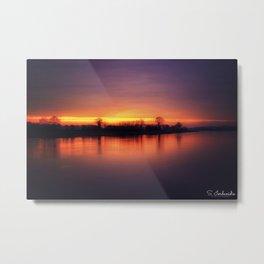 Riverside Sunset Metal Print