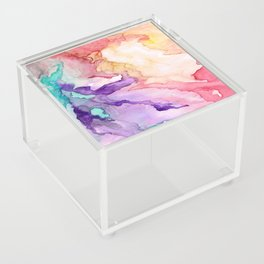 Color My World Watercolor Abstract Painting Acrylic Box