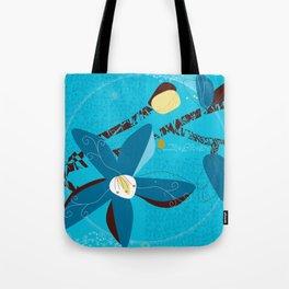 Blue Saucer Magnolia Tote Bag