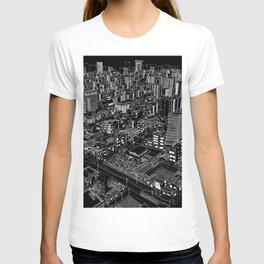 Asakusa, Japan in BW T-shirt