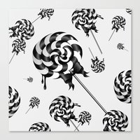 goth Canvas Prints featuring Goth Lollies by All Is One